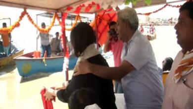 Photo of Sushma Swaraj's ashes immersed in Hapur's Ganga River