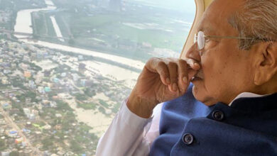 Photo of Andhra governor conducts aerial survey of flood-affected regions