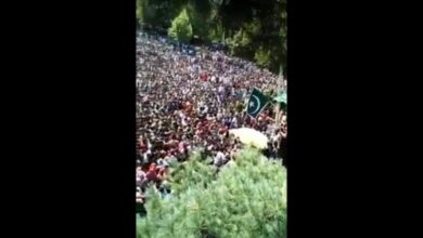 Photo of Zaidi shares Burhan's funeral video as rally against Indian govt