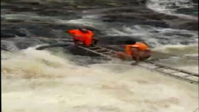 Photo of Bhopal: Two people stranded near Kerwa Dam rescued