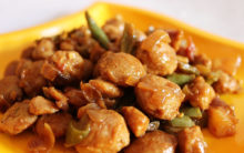 Chilli Soyabean chunks
