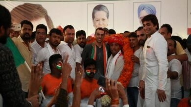 Photo of Srinivas BV takes oath as Indian Youth Congress president