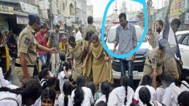 Photo of Hyderabad: Cop suspended for misbehaving with female student
