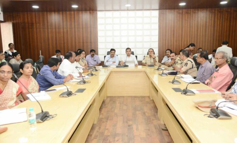 "Hyderabad: Ahead of Ganesh Immersion a meeting was held at GHMC head office on Monday. Officials discussed about the necessary arrangements required for Ganesh Immersion at Tank Bund. The meeting was headed by Musharaff Ali, Additional commissioner of GHMC, Shankaraiah DCP of Traffic, L.S. Chauhan, DCP of North zone and Kalmeshwar, DCP of central zone and other board members were present. During the meeting Musharaff Ali said, ""All necessary arrangements will be taken up like sanitation, filling of pot holes as per the procession route, removal of construction debris, Ali stressed that special attention will be given for public safety."" Earlier, there use to be various control rooms for each department but this year the GHMC have decided to assemble a centralized integrated control system at Tank Bund and another at NTR Marg road. Aiming to have a better co-ordination at field work and to avoid any delay in attending emergency work rather than waiting from higher officials concerned. Further he asked the officials to air their issues they faced based on The officials from Police Department suggested the Additional commissioner of GHMC to provide 21 cranes on 9th and 10th day and increase it to 29 on 11th day. They also suggested to increase the staff members, drivers and operators. Who would operate in three shifts and also provide a suitable place at people's plaza for parking of public vehicles for those who come for immersion of idols in order to avoid traffic jams on necklace road. Musharaff Ali asked the Road and Buildings department officials to provide the barricading as per the requirement of police department for proper regulation of Ganesh Immersion. The R&B officials informed that barricading work will be taken up and illumination will be done with installation of 37,000 odd lights. 23 distribution transformers at important points will be arranged to ensure uninterrupted power supply and sufficient mobiles toilets will also be placed. Special Care would be taken to curb traffic enrooted to religious places. Separate passes will be provided to utility vehicles in order to permit the vehicles to move freely during procession. The Officials have also decided to provide health camps and water distribution camps to the public which had a positive response last year. Further the officials requested the representatives of Ganesh Utsav committee members to ensure that 'No' plastic materials is used for distribution of Prasadam's and any other edible materials. The officials also added that the public should not erect flexes and large banners on vehicles as it obstructs the moment of vehicles and causes traffic jams. However, they are permitted to display banners if any, at authorized hoardings only."