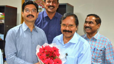 Photo of Yadagiri assumed charge as Executive director in TSRTC