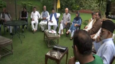 Photo of All-party meeting underway at Farooq Abdullah's residence