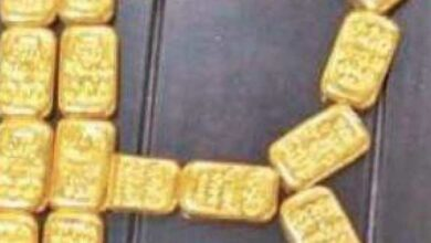Photo of Rs 1.11 cr gold bars seized from toilet in RGIA, Hyderabad