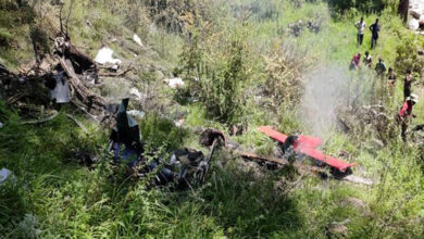 Photo of 3 dead after helicopter carrying relief material crashes