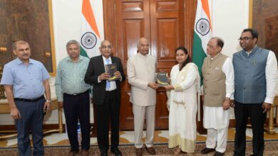 Photo of Books gifted to President of India