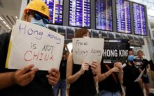 Hong Kong protests: Three-day sit-in at airport continues