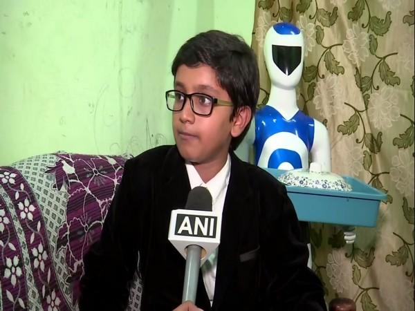 Telangana: 12-year-old prodigy develops serving robot
