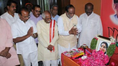 Photo of TS BJP Leaders pay tributes to Sushma Swaraj