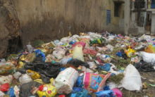 Heaps of garbage and waste in the old city