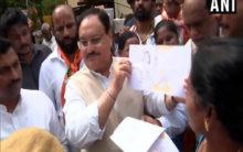 TS: Nadda holds door-to-door campaign for BJP's membership drive