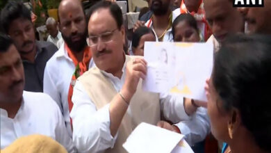 Photo of TS: Nadda holds door-to-door campaign for BJP's membership drive