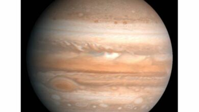 Photo of Jupiter still reeling from head-on collision 4.5bn years ago