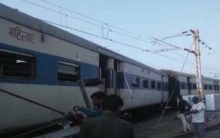 Train coaches derailed at Kanpur Railway Station