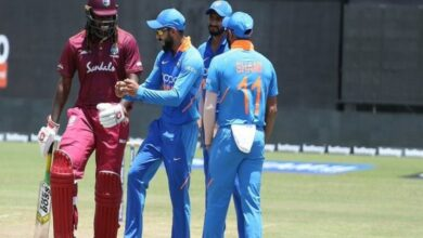 Photo of Guyana ODI: Wet-outfield stops play, Kohli puts on dancing shoes