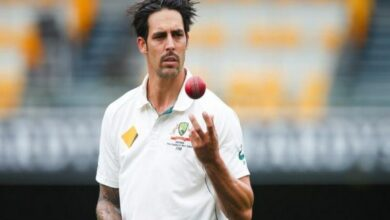 Photo of Mitchell Johnson elected as MCC Honorary life member