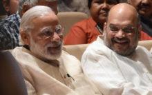 Modi, Shah congratulate Maha CM Fadnavis, Dy CM Ajit Pawar