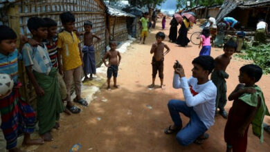 Photo of Rohingya youths share their stories on social media