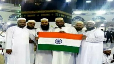 Photo of Man waved tricolor in front of Kaaba during hajj