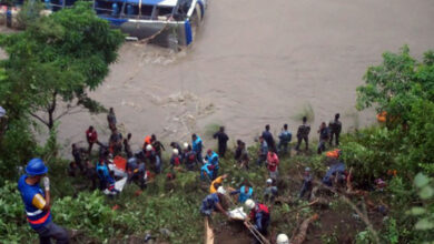 Photo of 3 dead, 23 missing bus plunges into river in Nepal
