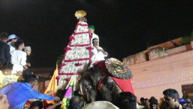 Photo of Nishan-e-Mubarak Hazrat Ghouse-e-Azam Procession at Charminar