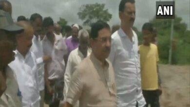 Photo of Pralhad Joshi visits flood-affected Dharwad district in Karnatak