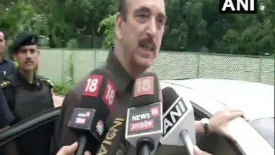 Photo of Azad stopped at Srinagar airport; being sent back to Delhi