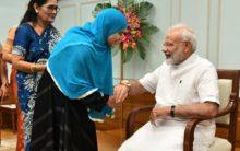 Triple talaq crusader Ishrat Jahan ties rakhi to PM Modi