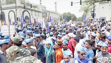 Photo of Ravidas Mandir: Delhi's Ramlila Maidan turned into sea of blue