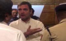Video shows Rahul Gandhi persuading officials at J-K Airport