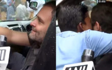 Man kisses Rahul Gandhi during Wayanad visit