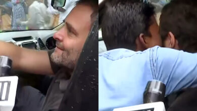 Photo of Man kisses Rahul Gandhi during Wayanad visit