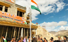 Ram Madhav extends Independence Day greetings from Ladakh