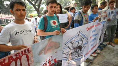 Photo of Refugees protest in Indonesia over Australia border policy