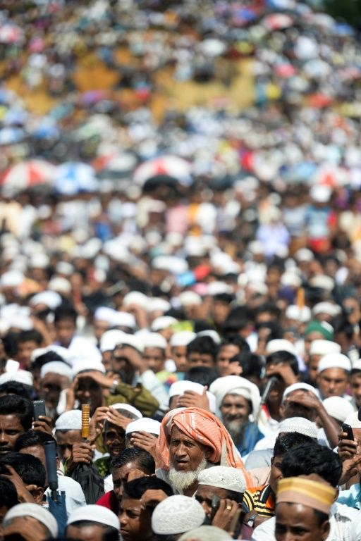 Rohingya rally to mark 'Genocide Day' in Bangladesh camps. Photo: AFP