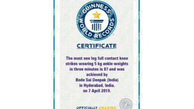 Photo of Youth sets Guinness World Record for one-leg knee strikes