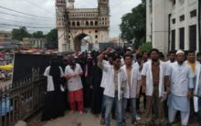 Unani-Ayurveda tussle over Charminar hospital turns ugly, students hold protest