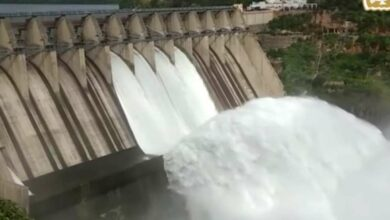 Photo of Water released from Srisailam