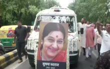 Sushma Swaraj: Teary homage to people's politician
