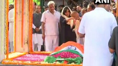Photo of Sushma Swaraj cremated with state honours