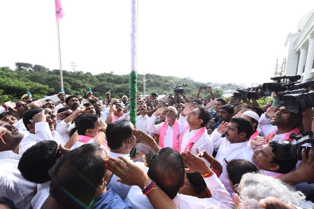 TRS Working President during I Day Celebrations