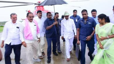 Photo of KCR conducts aerial survey at Kaleshwaram