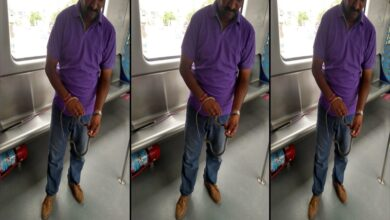 Photo of Snake found in Hyderabad Metro train