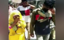 Woman, juvenile garlanded with shoes, paraded in Haryana