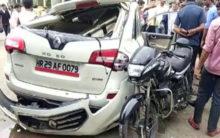 Noida: Bike rider dies on spot after collision with speeding car