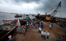 Two Pakistani boats seized in Gujarat's Harami Nallah