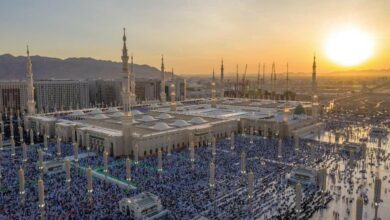 Photo of Sea of faithful performs Eid-al-Adha salaah in Madina